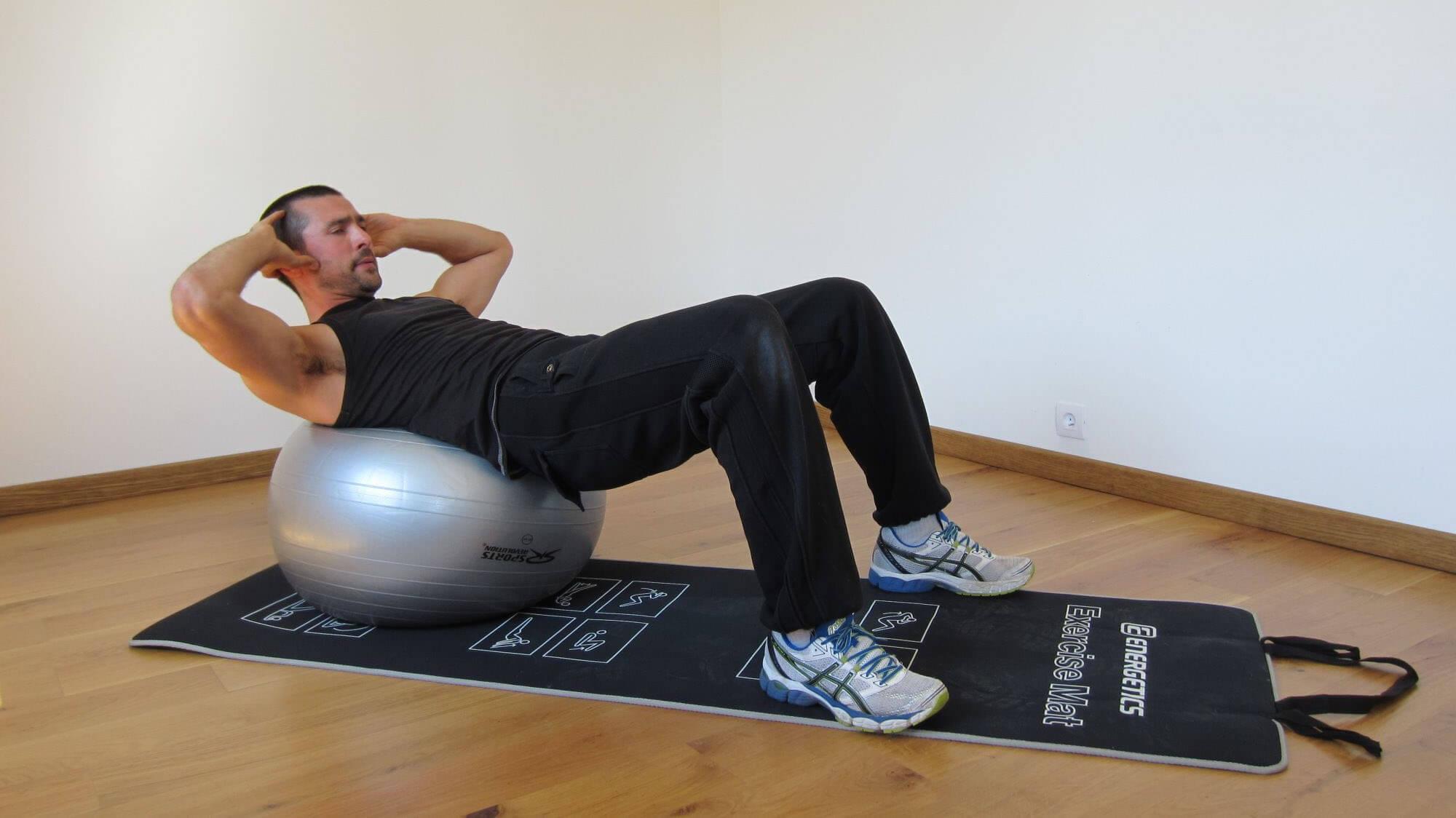 renforcement musculaire exercice ballon